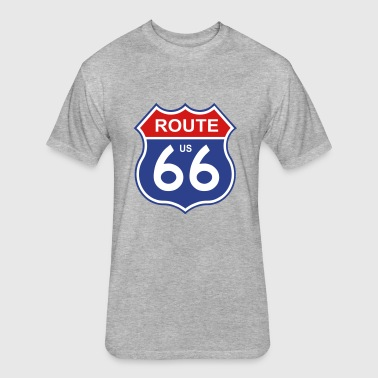route 66 - Fitted Cotton/Poly T-Shirt by Next Level