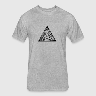 Triangles - Fitted Cotton/Poly T-Shirt by Next Level