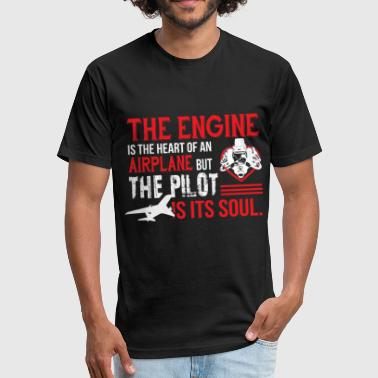 Airplane Engine The Engine Is The Heart Of An Airplane T Shirt - Fitted Cotton/Poly T-Shirt by Next Level