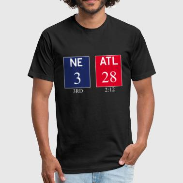 Ne 3 Atl 28 NE 3 ATL 28 Final 2 Sides 1 Game T-Shirt - Fitted Cotton/Poly T-Shirt by Next Level
