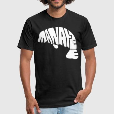 Manatee Design Manatee Letter Design Shirts - Fitted Cotton/Poly T-Shirt by Next Level