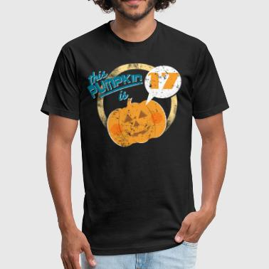 Halloween Pumpkin 17th Birthday - Fitted Cotton/Poly T-Shirt by Next Level