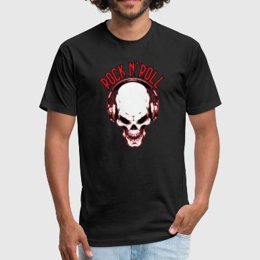 Bones Rock N Roll Rock n´Roll Skull - Fitted Cotton/Poly T-Shirt by Next Level