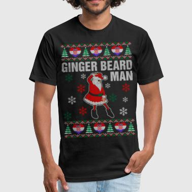 Ginger Beard Man Ginger Beard Croatian Man - Fitted Cotton/Poly T-Shirt by Next Level