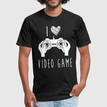 Women's Video Game I Love Video Game Best Shirts For Video Game Lover - Fitted Cotton/Poly T-Shirt by Next Level