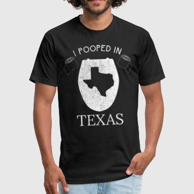 Pooped Today Texas Pooped Today - Fitted Cotton/Poly T-Shirt by Next Level
