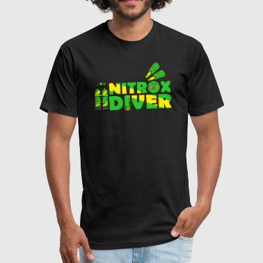 Nitrox Diver - Fitted Cotton/Poly T-Shirt by Next Level
