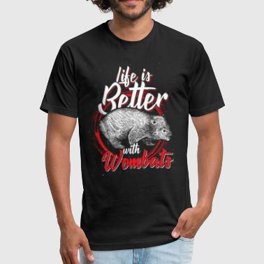 Wombat Wombat - Fitted Cotton/Poly T-Shirt by Next Level