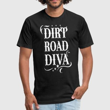 Tank Road Dirt Road Diva horse - Fitted Cotton/Poly T-Shirt by Next Level