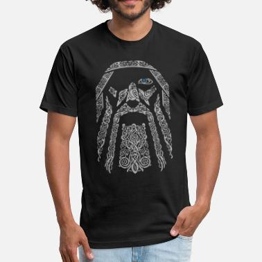Norway odin black and grey viking norway - Fitted Cotton/Poly T-Shirt by Next Level
