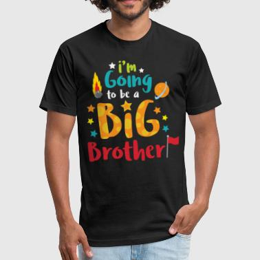 Theme Big Brother Space Theme Light Promotion - Fitted Cotton/Poly T-Shirt by Next Level