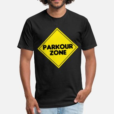 Kids Parkour Awesome and Cool Parkour Tshirt Design Parkour Zone - Fitted Cotton/Poly T-Shirt by Next Level