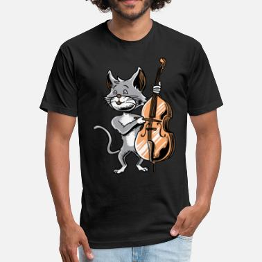 Elo Cat Cello Shirt Cute Orchestra Kitten Music fans - Fitted Cotton/Poly T-Shirt by Next Level