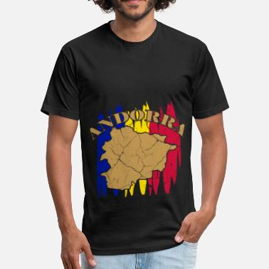 Andorra La Vella Andorra la Vella principality gift Catalan - Fitted Cotton/Poly T-Shirt by Next Level