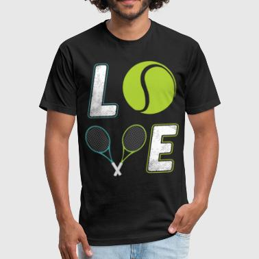 tenis loved game t shirts - Fitted Cotton/Poly T-Shirt by Next Level