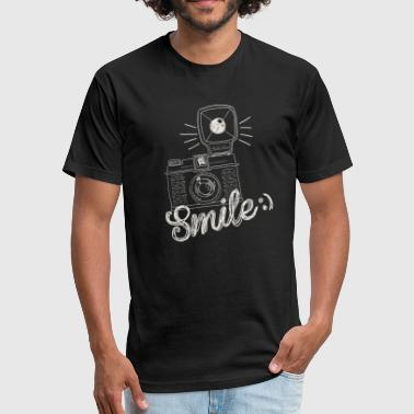 Retro Camera Smile - Fitted Cotton/Poly T-Shirt by Next Level