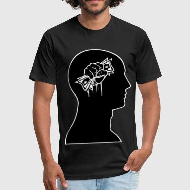 Cash on the Brain - Fitted Cotton/Poly T-Shirt by Next Level