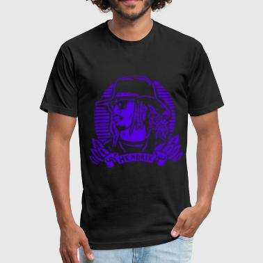New Fnly Black Purple Future Hendrix reign evol ra - Fitted Cotton/Poly T-Shirt by Next Level