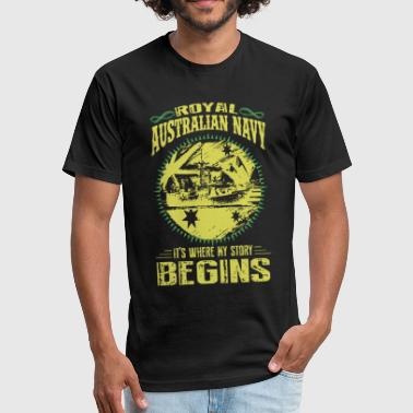 Australian Navy royal australian navy its where my story begins cr - Fitted Cotton/Poly T-Shirt by Next Level