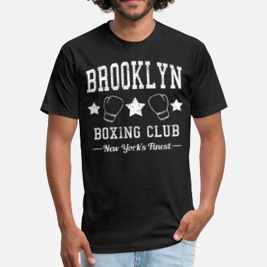 Brooklyn Boxing Brooklyn NYC Boxing - Fitted Cotton/Poly T-Shirt by Next Level