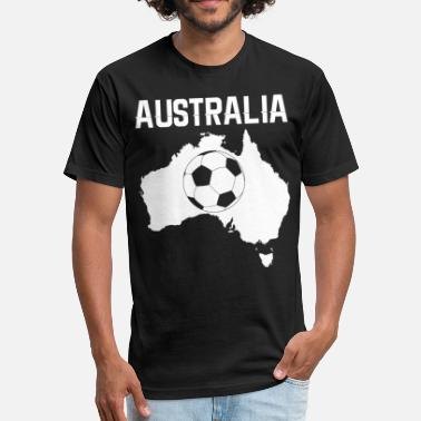 Australia Soccer Soccer Australia - Fitted Cotton/Poly T-Shirt by Next Level