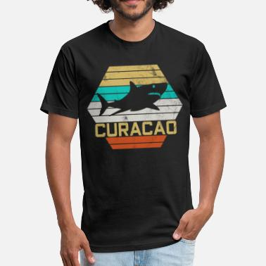 Curacao CURACAO HAI RETRO - Fitted Cotton/Poly T-Shirt by Next Level