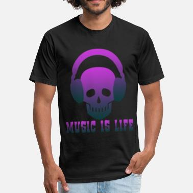 Club Music Music is Life music,musical instrument,music club - Fitted Cotton/Poly T-Shirt by Next Level