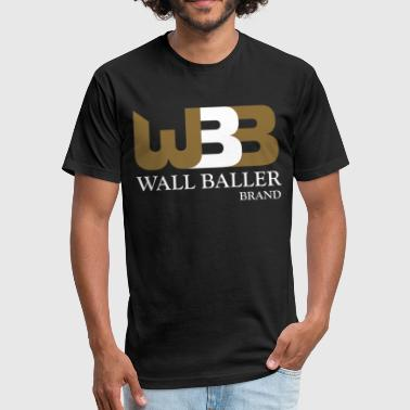 Ballers Fit White Gold Baller - Fitted Cotton/Poly T-Shirt by Next Level