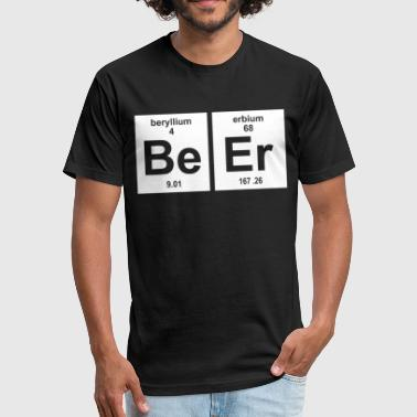 Beer Science BEER ELEMENTS GEEKY FUNNY SCIENCE PRINTED SCIENCE - Fitted Cotton/Poly T-Shirt by Next Level