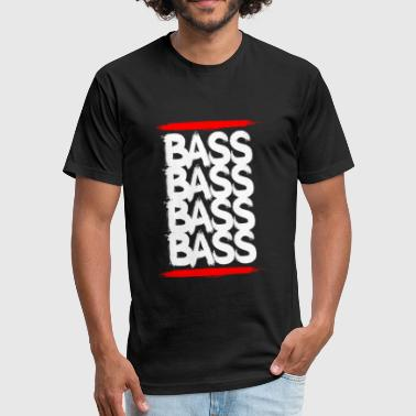 Bass Techno Bass - Fitted Cotton/Poly T-Shirt by Next Level