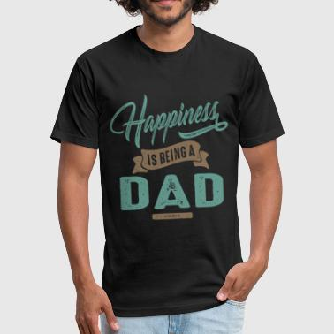 Happy Dad Happiness Dad - Fitted Cotton/Poly T-Shirt by Next Level