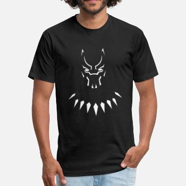 Black Marvel Panther Black Panther - Fitted Cotton/Poly T-Shirt by Next Level