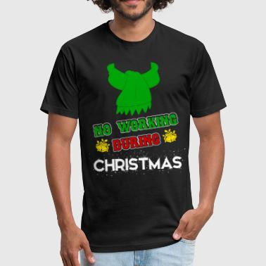 Christmas Design xmas Christmas - Fitted Cotton/Poly T-Shirt by Next Level