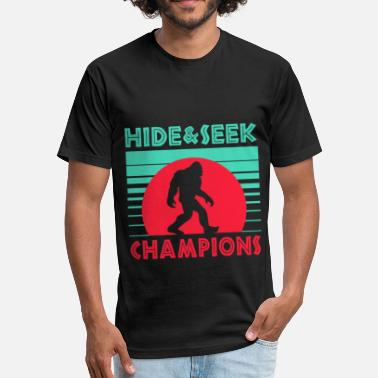 Yeti Or Abominable Snowman head and seek champions bigfoot - Fitted Cotton/Poly T-Shirt by Next Level