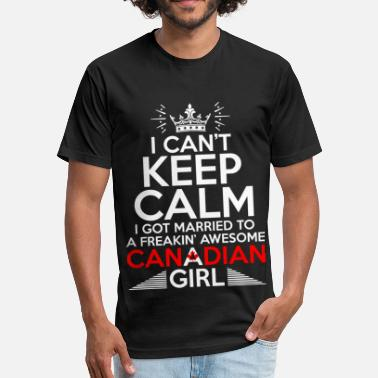 45c9cd981f Canadian Girls I Cant Keep Calm Awesome Canadian Girl - Unisex Poly Cotton T -Shirt