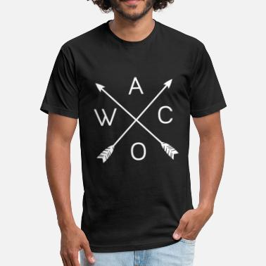 Waco Texas Waco Texas - Silos, Shiplap, magnolia - Fitted Cotton/Poly T-Shirt by Next Level