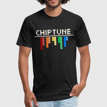 Bit C64 Chiptune - 8 Bit Sound - Fitted Cotton/Poly T-Shirt by Next Level