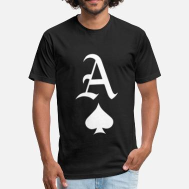 Fucking Ace ACE OF SPADES PRINTED MENS MONEY SWAG HIPSTER FRES - Fitted Cotton/Poly T-Shirt by Next Level