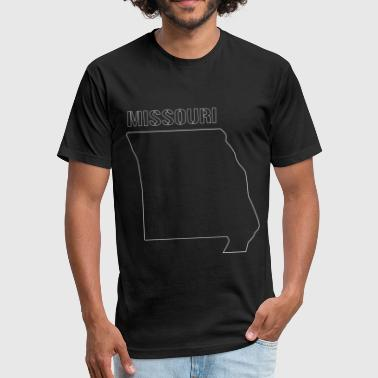 Missouri State Shaped Map - Fitted Cotton/Poly T-Shirt by Next Level