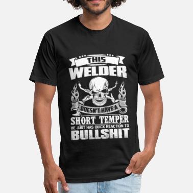 e483481fe4 Welder Just Has Quick Reaction To Bullshit - Unisex Poly Cotton T-Shirt