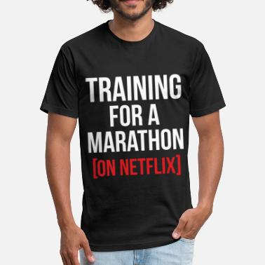 Marathoner Training Training for a Marathon - Fitted Cotton/Poly T-Shirt by Next Level