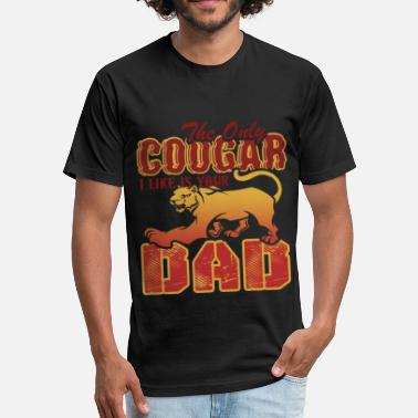 Cougars Cougar Shirt - Like Cougar Dad Tee Shirt - Fitted Cotton/Poly T-Shirt by Next Level
