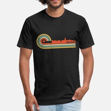 Charleston South Carolina Retro Style Charleston South Carolina Skyline - Unisex Poly Cotton T-Shirt