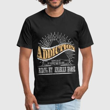 Horses Baseball Addiction Is Arabian Horse Shirt Gift Horse Lover - Fitted Cotton/Poly T-Shirt by Next Level