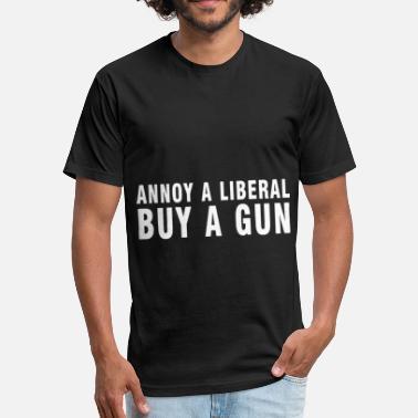 a7d299302f61 Annoy a liberal buy a gun t shirt - Unisex Poly Cotton T-Shirt