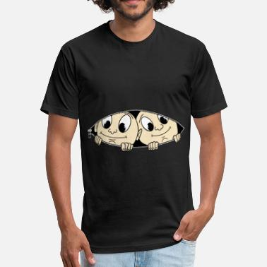 f5de48bf351d0 Twins Maternity Twins Peeking Funny Caucasion Twin Babies - Unisex Poly  Cotton T-Shirt