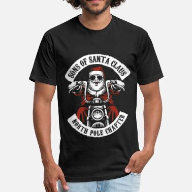 Chapter Sons Of Santa claus north pole chapter moto - Fitted Cotton/Poly T-Shirt by Next Level