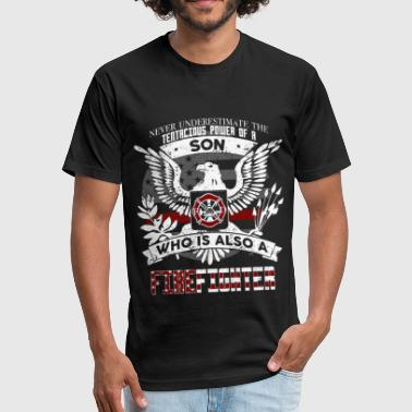 Son Firefighter - Fitted Cotton/Poly T-Shirt by Next Level