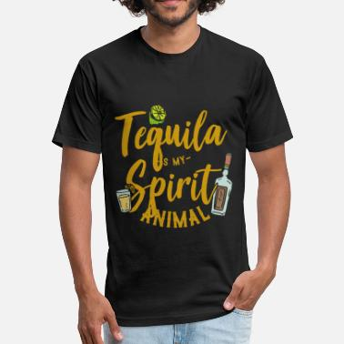 Siesta Tequila is my spirit animal gift love fiesta fun - Fitted Cotton/Poly T-Shirt by Next Level