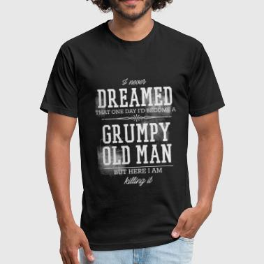 Grumpy Old Man - Fitted Cotton/Poly T-Shirt by Next Level